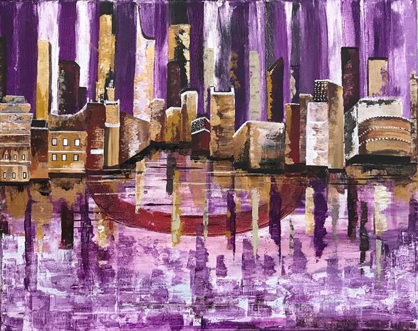 Cityscape Abstract Painting