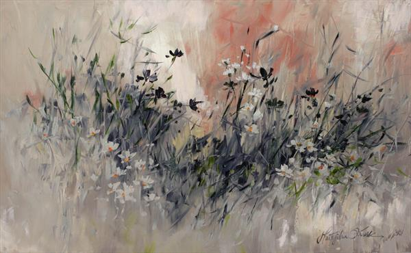 Meadow at early morning by Margaret Raven