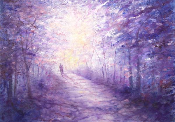 Down Lavender Lane Limited Edition Print by Stella Dunkley