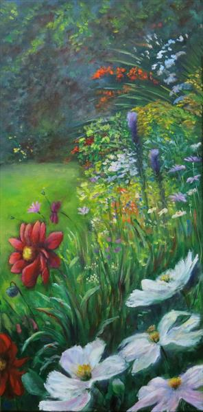 Scene from my Garden 2 by Maureen Greenwood