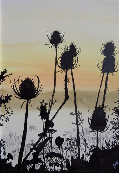 Somerset Teasels by Jo Mortimer