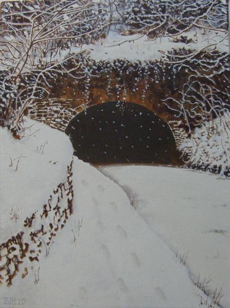 Hyde Bank Tunnel,Winter. by Ben Hardman