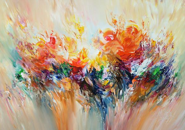 Abstraction Orange M 1 by Peter Nottrott