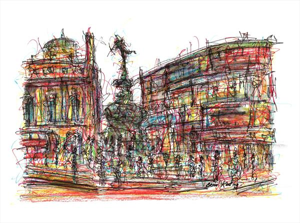 Piccadilly Circus - London by Brian Keating