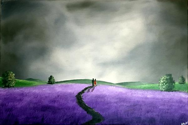 Through The Lavender Fields by Aisha Haider