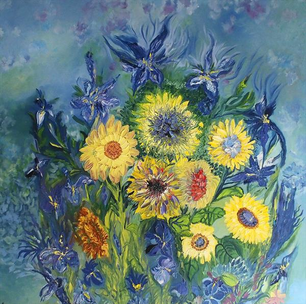 Sunflowers in Bloom by Lesley Blackburn