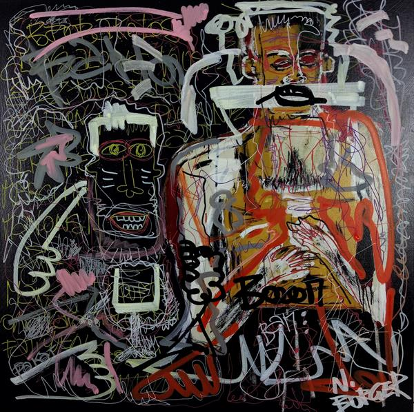 Borger's theory after Basquiat by Noah  Borger