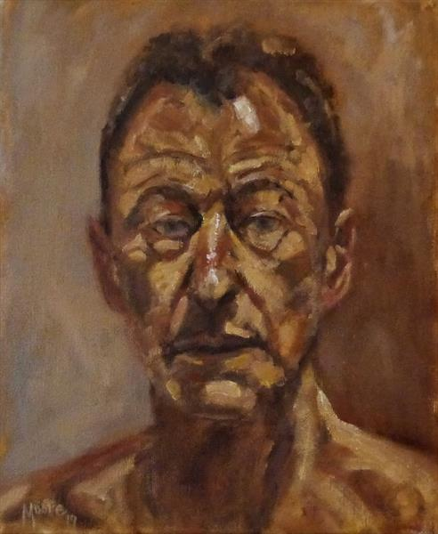Homage to Lucian Freud by David Moore