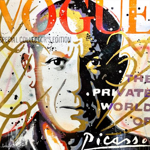 Picasso vogue gold, orange and red version  by Patrick Cornee