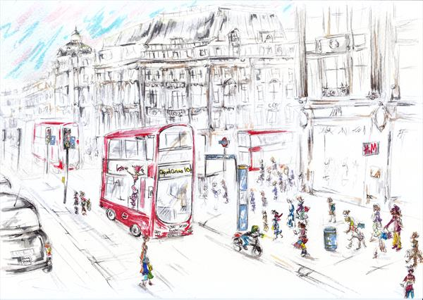Impression of Oxford Circus (reserved for Kirsty)