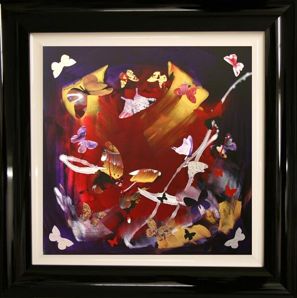 Moonlight dance (butterfly collage) On Display at Athe Art Gallery Tetbury