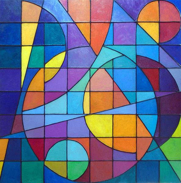 COMPOSITION: CIRCLES & SQUARES by Stephen Conroy