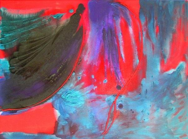 Carnival - Red, Blue and Purple REDUCED (was £180) by Joanne Clare Pilkington