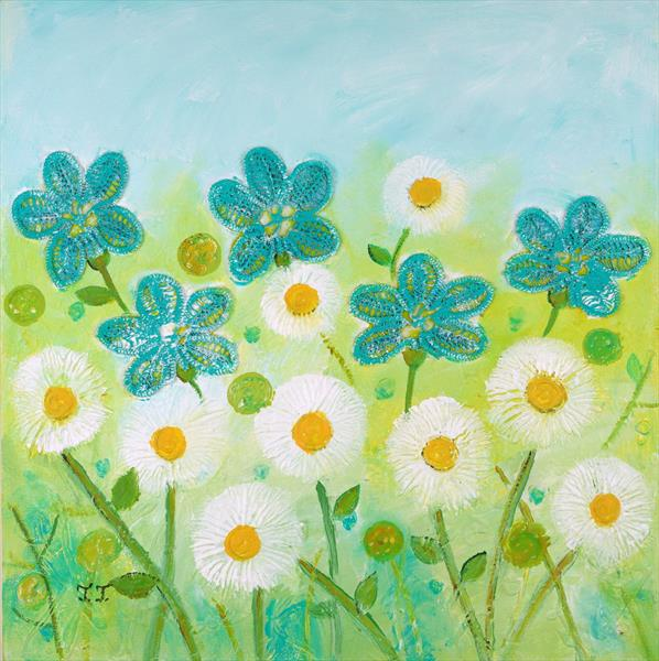 Daisies in a Summer Field by Teodora Totorean