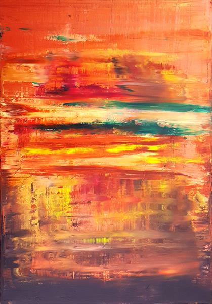West wind - large abstract landscape by Ivana Olbricht