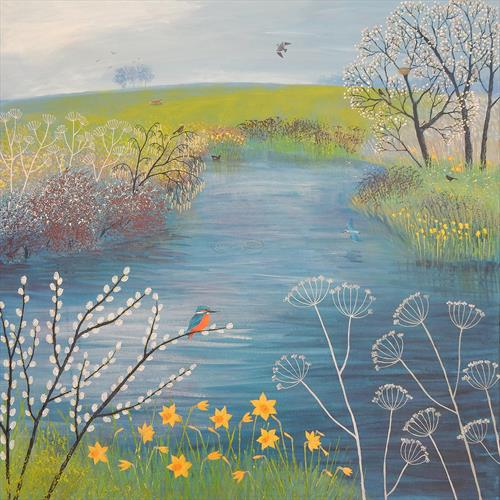 Spring at Kingfisher Pool by Josephine Grundy