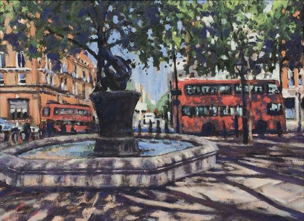 Sloane Square shadows by Louise Gillard