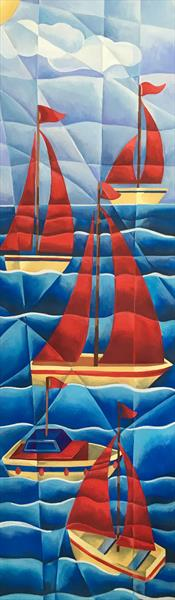 Five Boats a Bobbing by Tiffany Budd