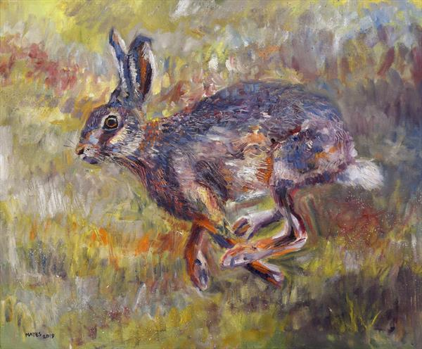 A Running Hare by Jeremy Mayes