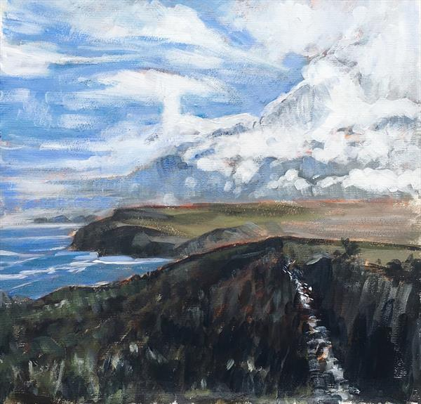 Cornish coastal path by Louise Gillard