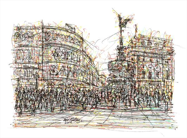 Piccadilly Circus - London UK by Brian Keating ANCAD