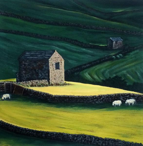 Barn on the Hill by Jennie James