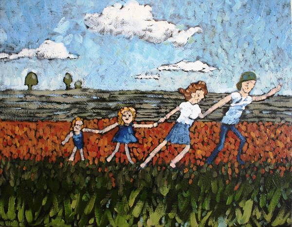 Nuclear Family (Original artwork) by Tracey Pacitti