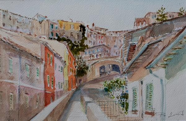 Go up to the Downtown, Perugia by Zoltán Pál