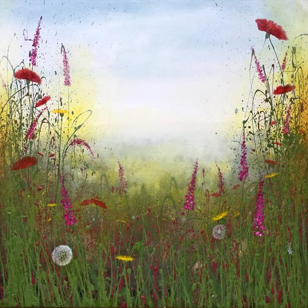 Poppies Dandelion Wildflower Meadow by Beatrice   Cawood