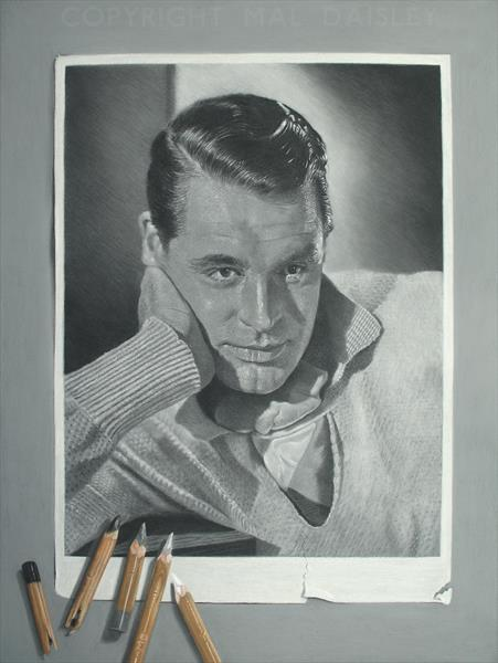 CARY GRANT STUDIO PORTRAIT by Mal Daisley