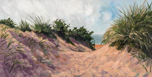 Gullane Dunes (Limited edition giclee) by Tracey Pacitti