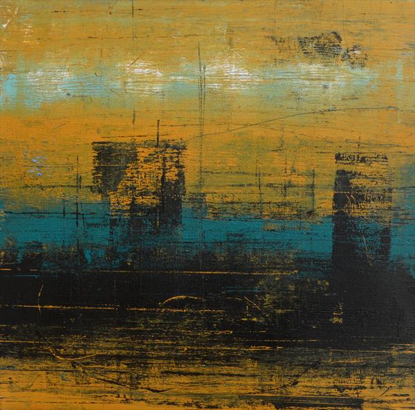 Cityscape in Yellow Ochre by Milena Blaziak Cooke