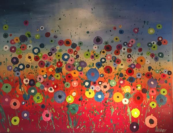 Vivid Poppies at Sunset by Laura Usher
