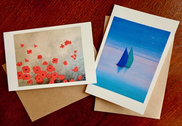 Set of Two Greetings Cards by Jean Tatton Jones