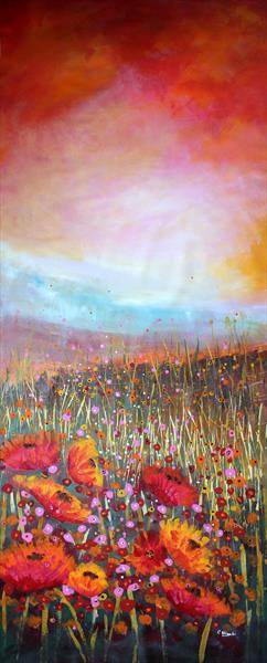 I Show You Happiness - Super sized original floral painting by Cecilia Frigati