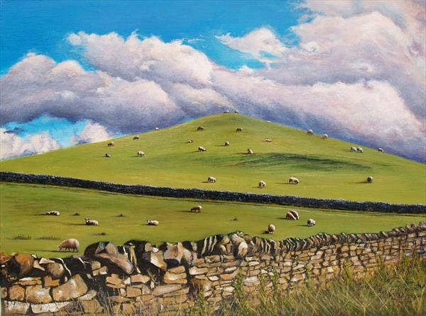British Landscape - Rural Scene in North Yorkshire by Ria Janta-Cooper