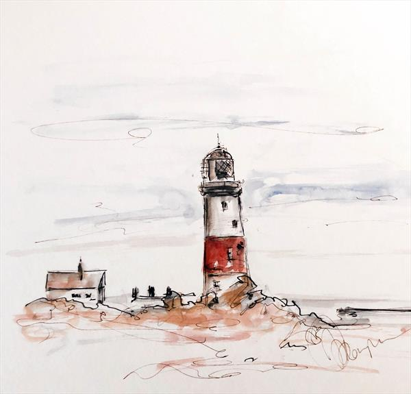 Portland Bill Lighthouse 1 by Wendy Thompson