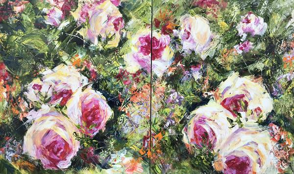 Roses. Diptych by Diana Malivani