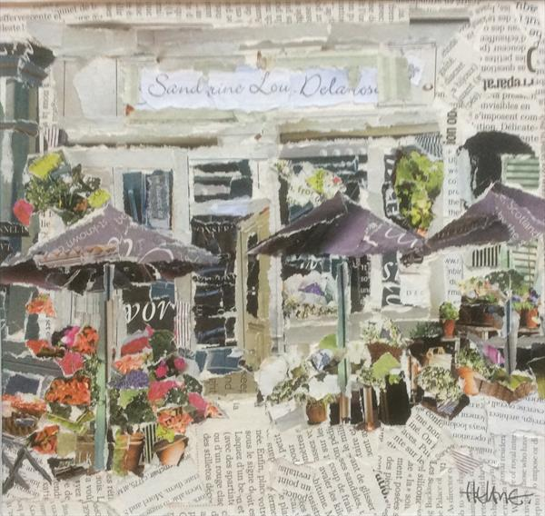The Florist Shop, Cancale,Brittany by Helen Norman