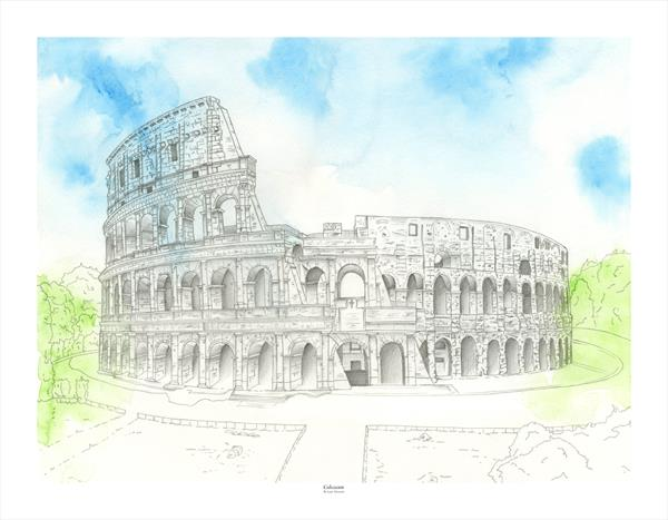 Rome Colosseum  by Leigh  Townsend
