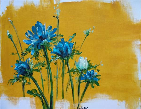 Blue flowers by Nicol Kele