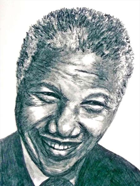 Nelson Mandela by Maureen Crofts