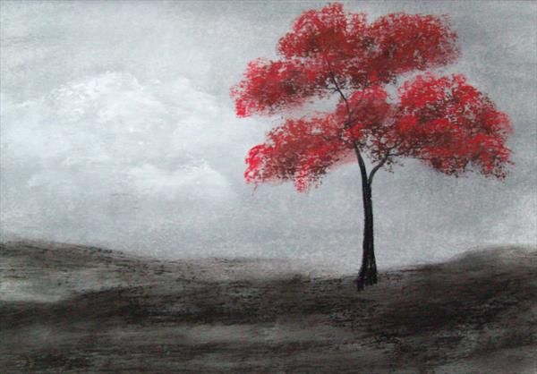 Red Tree by Patricia Richards