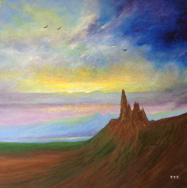 The Old Man of Storr on Skye by Jean Tatton Jones