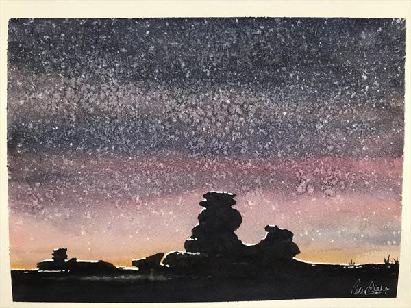 Great Staple Tor in winter by Peter Blake