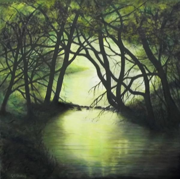 The Green Pool, Evening by Gill Stokes