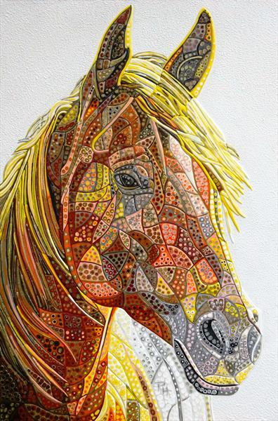 Abstract Horse 11 (Sculptural) (Reserved for BS) by Paula Horsley