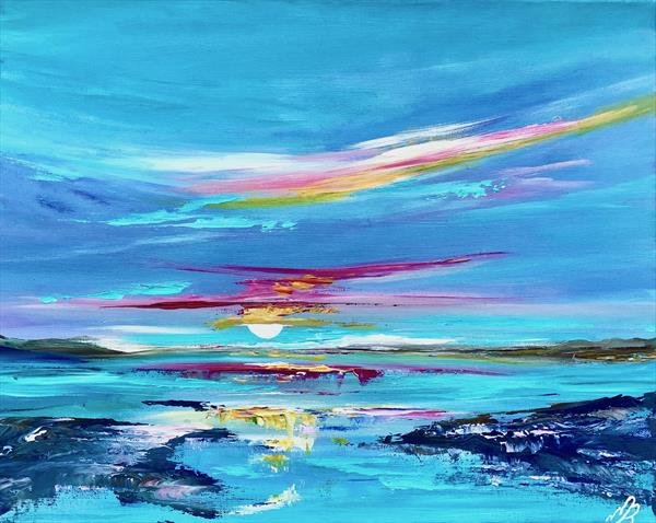 Abstract Sunset by Marja Brown