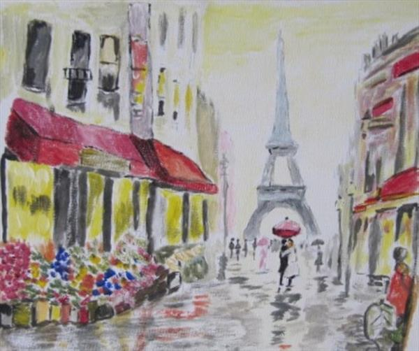 Paris in the Rain by Janet Roberts