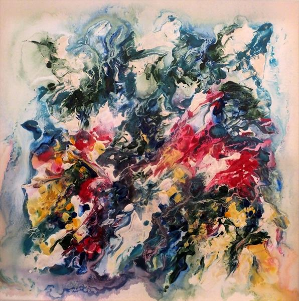 Pure Abstraction (Large Square)(Corporate Art) by Hester Coetzee
